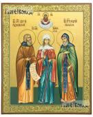 Семейная икона с тремя святыми: Сергий Ксения Андрей