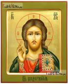 Господь, рукописная икона с золочением и ковчегом, артикул 606