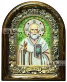 Икона Николая Чудотворца (без митры) из бисера
