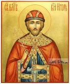 Благоверный князь Игорь Черниговский, икона писаная на доске