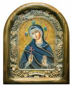 Мученица Евгения, икона из бисера, артикул ДВ71139
