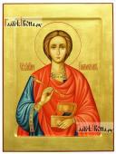 Пантелеимон Целитель, рукописная икона, артикул 522