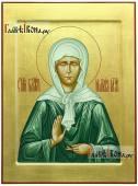 Писаная икона Матроны Московской золотой фон ковчег