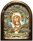 Умиление Божия Матерь кружева икона из бисера