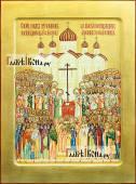 Собор Новомучеников и Исповедников писаная икона с золочением