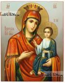 Икона Божией Матери Иверская в живописном стиле масло артикул 5345