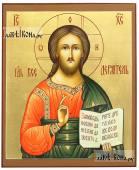 Вседержитель, рукописная икона с золочением и коричневыми полями