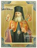 Лука Крымский с предстоящими писана икона маслом на золотом фоне