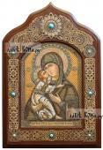 Владимирская икона писанная на бересте, размер 30х45 см