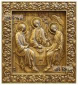 Резная икона Троицы Пресвятой артикул 22311