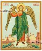 Писаная икона Ангела Хранителя в полный рост с пейзажем