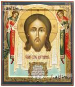 Спас Нерукотворный (с Ангелами), рукописная икона, размер 27х31 см