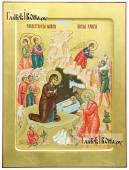 Писаная икона праздника Рождества Христова, артикул 411