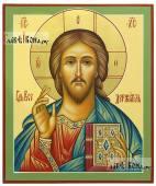 Господь Вседержитель, писанная темперой икона артикул 612