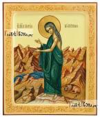 Мария Египетская в пустыне, икона писаная артикул 6196