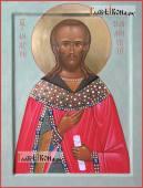 Князь Андрей Смоленский писаная на доске икона