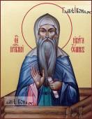 Писаная икона преподобного Никиты Столпника