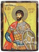 Виктор Дамасский, икона состаренная 18х24 см