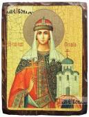 Ольга равноапостольная, икона состаренная 18х24 см