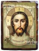 Спас Нерукотворный, живописный стиль - икона состаренная 18х24 см