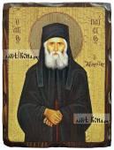 Паисий Святогорец состаренная икона 18х24 см