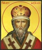Митрополит Московский Алексий (оплечный), писаная икона