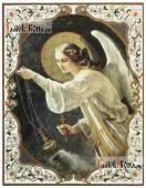 Селафиил архангел, печатная на доске икона