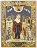 Всех Скорбящих Радость, печтая икона с рамкой по полям