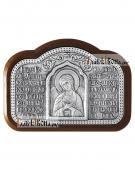 Серебряная иконка с Ангелом Хранителем и молитвой