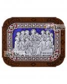 Тайная Вечеря, икона из серебра с ювелирной эмалью, артикул 13244