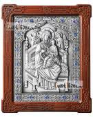 Всецарица, икона серебряная артикул 11258