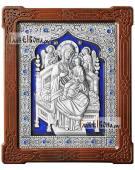 Всецарица икона серебряная с эмалью артикул 13258