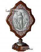 Воскресение Христово серебряная икона на подставке