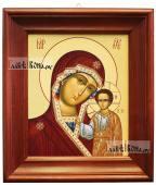 Казанская, икона в деревянном киоте 26х30 см
