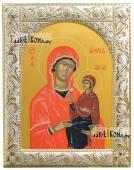 Икона Анны Праведной с посеребренным окладом, 14х18 см
