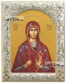 Икона Ирины Коринфской в посеребренном окладе-рамке, 14х18 см