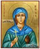 Писаная икона Миропии Хиосской золотой фон