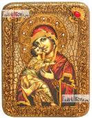 Владимирская Божия Матерь - икона подарочная на мореном дубе