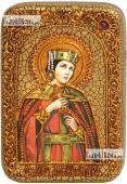 Александра Римская, икона на дубе, 10х15 см
