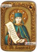 Аполлинария Египетская, икона на дубе 10х15 см