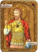 Виктор Дамасский икона на дубе 21х29 см