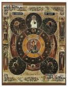 Всевидящее око Божие печатная на доске икона