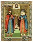 Петр и Феврония княжеские печатная икона с узором