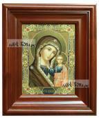 Казанская Божия Матерь, икона печатная в киоте