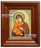 Владимирская Божия Матерь икона печатная в киоте