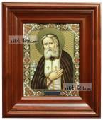 Серафим Саровский икона печатная в киоте