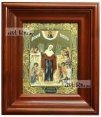 Радость Всех Скорбящих с грошиками икона печатная в киоте