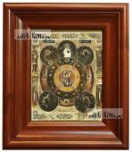 Всевидящее око Божие, икона печатная в киоте