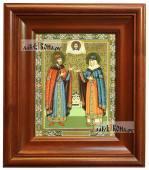 Петр и Феврония княжеские икона печатная в киоте