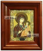 Иверская Божия Матерь, икона печатная в киоте